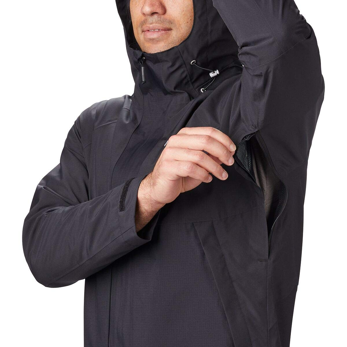 L, COLUMBIA EVOLUTION VALLEY RAIN JACKET - BLACK en Perú ...
